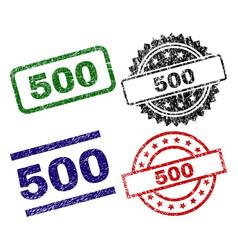scratched textured 500 stamp seals vector image