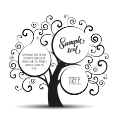 silhouette tree vector image vector image