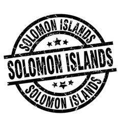 Solomon islands black round grunge stamp vector