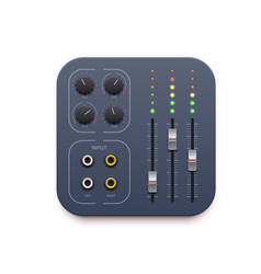 Sound mixer music record app icon audio control vector