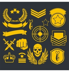 Special unit military patch vector image vector image