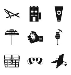 Sport approach icons set simple style vector