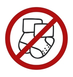 Stop sign Doodle socks icon for web design vector image