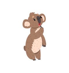 sweet pensive koala bear australian marsupial vector image