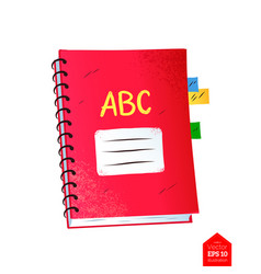 top view of spiral notebook vector image