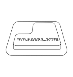 Translate button icon in outline style isolated on vector