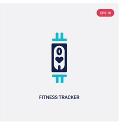 Two color fitness tracker icon from gym and vector