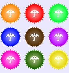 Umbrella icon sign Big set of colorful diverse vector