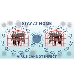 Virus outbreak theme and viral disease epidemic vector