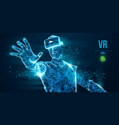 Vr headset virtual reality glasses vector