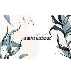 watercolor plant abstract art background vector image