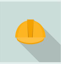 yellow helmet protection welder icon flat style vector image