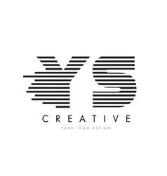 ys y s zebra letter logo design with black and vector image