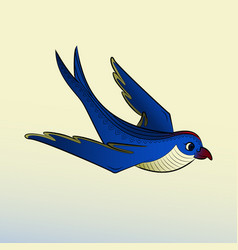 zen tangle swallow zentangle bird vector image