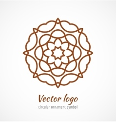 Abstract red outline ornament symbol logo vector image vector image
