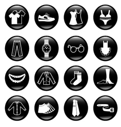 black clothes icons vector image vector image