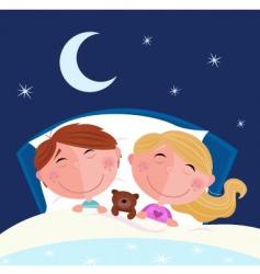 boy and girl sleeping vector image vector image