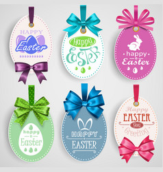 Easter emblem with bows vector image vector image