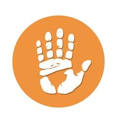 Hand imprint seamless vector image
