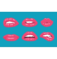High detailed glossy lips and mouth vector image