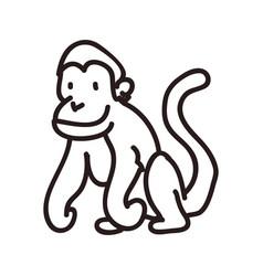 monkey doodle animal vector image vector image