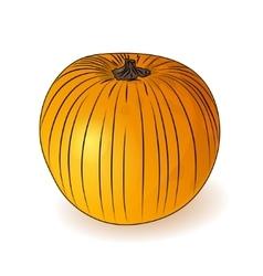 Orange pumpkin icon Halloween symbol vector image vector image