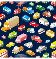 Seamless cars vector image vector image