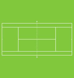 tennis court vector image
