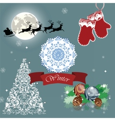 Christmas Eve card vector image