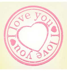 I Love You stamp vector image