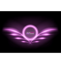 neon frame with wings vector image vector image