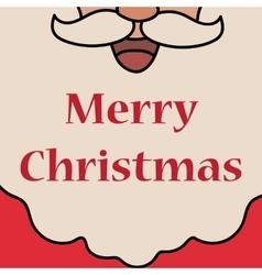Christmas white Santa Claus beard vector image vector image