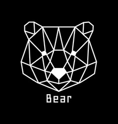 head of bear vector image vector image