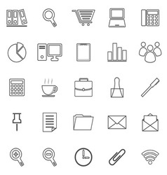 Office line icon on white background vector image vector image