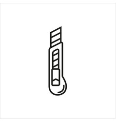 stationery knife icon on white background vector image