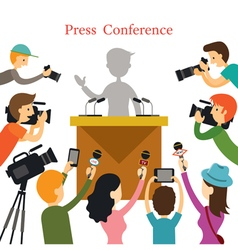 Press Conference Journalist Interview vector image vector image