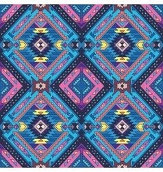 Seamless colorful aztec pattern vector image