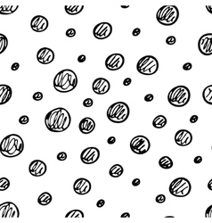 Seamless pattern with hand drawn circles vector image