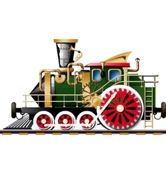 Steampunk Steam locomotive vector image