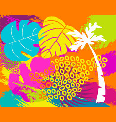 tropical summer nature abstract background art vector image vector image