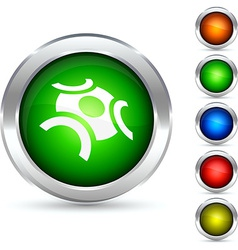 Abstract button vector image