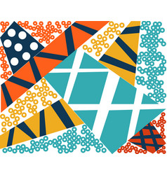 Abstract modern geometric background retro style vector