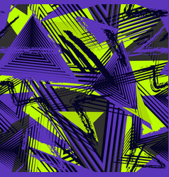 Abstract seamless geometric pattern sport style vector