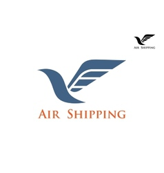 Air shipping symbol or emblem vector image