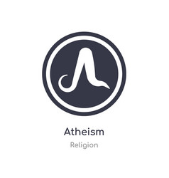 Atheism icon isolated icon from religion vector