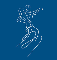 balroom dancers couple vector image