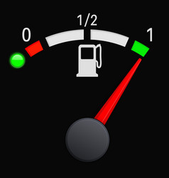 Black fuel gauge scale full tank vector