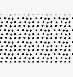Black marker scribble dots vector