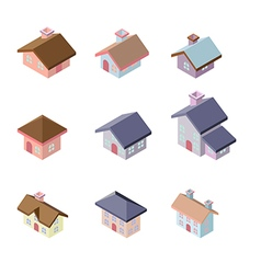 building 3d isometric vector image