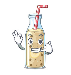 call me sweet banana smoothie isolated on mascot vector image